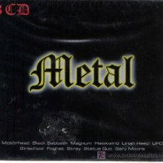 CDs de Música: METAL : CAJA CARTONE CON 3 CD´S - NUEVA Y PRECINTADA - TEMAS DE MOTORHEAD , BLACK SABBATH , FOGHAT. Lote 15799600