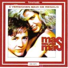 CDs de Música: MAS Y MAS - MISMO TITULO CD ALBUM FONOMUSIC 1990. Lote 120919790