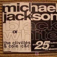 CDs de Música: MICHAEL JACKSON MAXI CD `BLACK OR WHITE´ NUEVO. Lote 27297697
