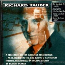 CDs de Música: RICHARD TAUBER: THE ROBERT PARKER REMASTERED CD. Lote 8128764