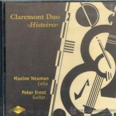CDs de Música: CLAREMONT DUO: HISTOIRES OBRAS PARA GUITARRA Y CELLO. Lote 28491046