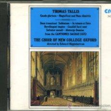 CDs de Música: TALLIS: CANTIONES SACRAE. MAGNIFICAT. Lote 8692697