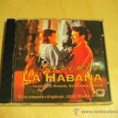 CDs de Música: B.S.O. COSAS QUE DEJÉ EN LA HABANA - . Lote 27224256