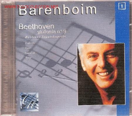 'SYMPHONY Nº 9 IN D MINOR, OP.125', DE BEETHOVEN, DIRIGIDO POR BARENBOIM. (Música - CD's Clásica, Ópera, Zarzuela y Marchas)