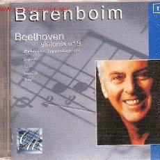 CDs de Música: 'SYMPHONY Nº 9 IN D MINOR, OP.125', DE BEETHOVEN, DIRIGIDO POR BARENBOIM.. Lote 23428709