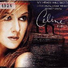CDs de Música: CELINE DION-MY HEART GO ON CDSINGLE SONY 1998 INCLUYE DANCE MIXES DE LA BSO DE TITANIC. Lote 11835927
