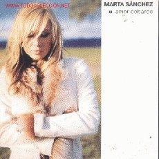 CDs de Música: MARTA SANCHEZ-AMOR COBARDE CDSINGLE PROMOCIONAL EDITADO POR MUXXIC EN EL 2003. Lote 44237395