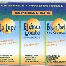 CDs de Música: LA LUPE - EL GRAN COMBO - EDGAR JOEL / 3 TEMAS (CD SINGLE 1993). Lote 9782607