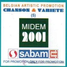CDs de Música: BELGIAN ARTIST 2001 MIDED- PIERRE NELIS, CHRISTOPHE PUSSET, RENE CHAUMONT ETC.. CD ALBUM. Lote 9818652