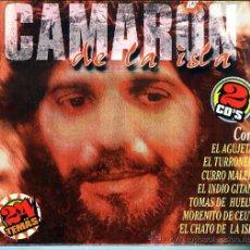 CDs de Música: 2 CD'S ESTUCHE DOBLE CAMARON DE LA ISLA - 24 TITULOS. Lote 18383475