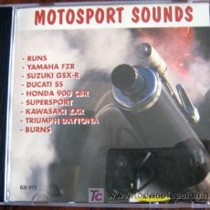 CDs de Música: MOTOSPORT SOUNDS - CD CON SONIDOS DE 9 MOTORES DIFERENTES. NUEVO.. Lote 27250629