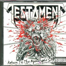 CDs de Música: TESTAMENT - RETURN TO THE APOCALYPTIC CITY - CD - 1993. Lote 34927971