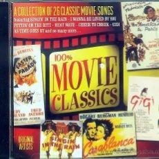 CDs de Música: CD 100% MOVIES CLASSICS - 26 CLASSICS. Lote 26434712