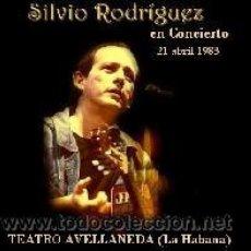 CDs de Música: SILVIO RODRIGUEZ - HISTORIA DE LAS SILLAS, TEATRO AVELLANEDA, LA HABANA, ABRIL 1983 (CD). Lote 213404790