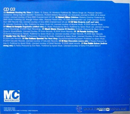 CDs de Música: IBIZA CHILL * 3 CD * Mastercuts * PRECINTADO !!! - Foto 8 - 26440742