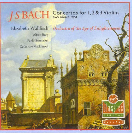 CONCIERTOS PARA 1,2 Y 3 VIOLINES / JOHANN SEBASTIAN BACH (Música - CD's Clásica, Ópera, Zarzuela y Marchas)