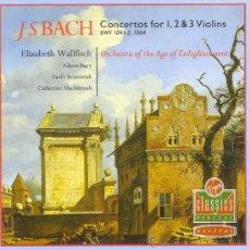 CDs de Música: CONCIERTOS PARA 1,2 Y 3 VIOLINES / JOHANN SEBASTIAN BACH. Lote 26324561