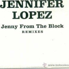 CDs de Música: JENNIFER LOPEZ. JENNY FROM THE BLOCK - REMIXES (CD-SINGLE PROMOCIONAL ). Lote 12137232