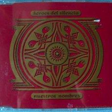 CDs de Música: HEROES DEL SILENCIO - MAXI CD NUESTROS NOMBRES (2 VERSIONES) +FLOR DE LOTO+ APUESTA POR EL ROCK&ROLL. Lote 25356773