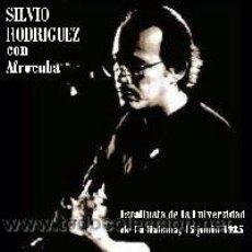 CDs de Música: SILVIO RODRÍGUEZ CON AFROCUBA EN CONCIERTO (UNIVERSIDAD DE LA HABANA 1985). Lote 213404718