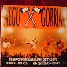 CDs de Música - NEGU GORRIAK - HIPOKRISIARI STOP! BILBO 93-X-30 DIGIPACK DESPLEGABLE - 27275709