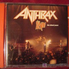 CDs de Música: ANTHRAX - LIVE THE ISLAND YEARS 1994. Lote 27406801