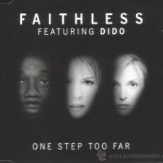 CDs de Música: FAITHLESS & DIDO * CD-MAXI * ONE STEP TOO FAR * PRECINTADO * MUY RARO!!!. Lote 20845979