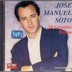 CDs de Música: JOSE MANUEL SOTO CD 20 GRANDES EXITOS ORIGINAL ARGENTINA 1999 ULTRA RARO PARA COLECCIONISTAS. Lote 26619082
