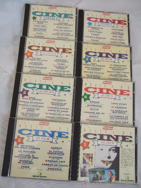 MÚSICA DE CINE - 8 CD - LOS AÑOS 30/40 + LOS 40/50 + LOS 60 + LOS 70 + LOS 80 + LOS 90 + 2 EXTRAS (Música - CD's Bandas Sonoras)