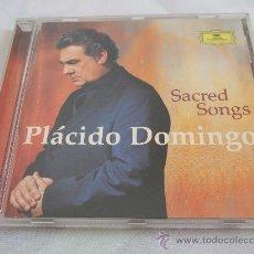 CDs de Música: PLÁCIDO DOMINGO - SACRED SONGS - CD 2002 - 16 CANCIONES - LIBRETO EXPLICATIVO CON LETRAS. Lote 24393165