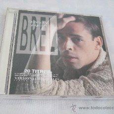 CDs de Música: JACQUES BREL - QUINZE ANS D'AMOUR - CD 1988 - 20 CANCIONES - LIBRETO CON LAS LETRAS. Lote 24288492