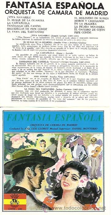 ORQUESTA DE CAMARA DE MADRID CD SELLO MONTILLA AÑO 1991 EDITADO EN USA. (Música - CD's World Music)