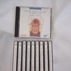 CDs de Música: LOTE 10 CD'S LAS 100 MEJORES CANCIONES DE NUESTRA VIDA 1963-1973 - 120 CANCIONES DEL AÑO 63 AL 73. Lote 24700558