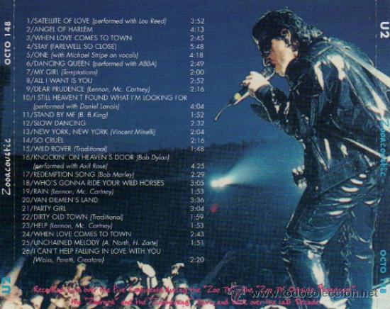 U2 ZOOCOUSTIC 100% PURE LIVE ACOUSTIC SOUND CD