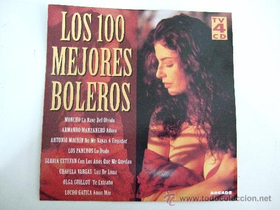 LOS 100 MEJORES BOLEROS - 4 CD'S 1996 - VER FOTO CON TITULOS E INTERPRETES (Música - CD's Melódica )