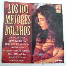 CDs de Música: LOS 100 MEJORES BOLEROS - 4 CD'S 1996 - VER FOTO CON TITULOS E INTERPRETES. Lote 88101326
