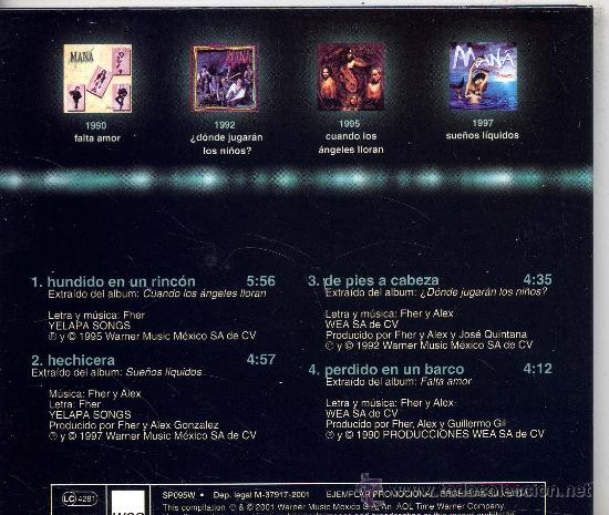 CDs de Música: MANA / 100% Mana (CD MAXI WEA 2001) TEMAS VER FOTO - Foto 2 - 50243279