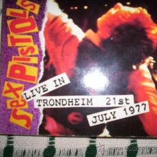 CDs de Música: SEX PISTOLS- LIVE IN TRONDHEIM 21ST JULY 1977- DIGIPACK. Lote 27383003