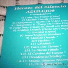 CDs de Música: HEROES DEL SILENCIO- AZULEJOS . Lote 27451816