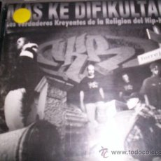 CDs de Música: V.K.R. - MAS KE DIFIKULTAD - PRIMERA EDICION - RAP - HIP HOP. Lote 27479345