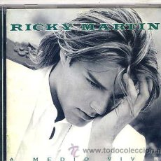 CDs de Musique: RICKY MARTIN / A MEDIO VIVIR (CD CBS 1995) TEMAS VER FOTO. Lote 14318628