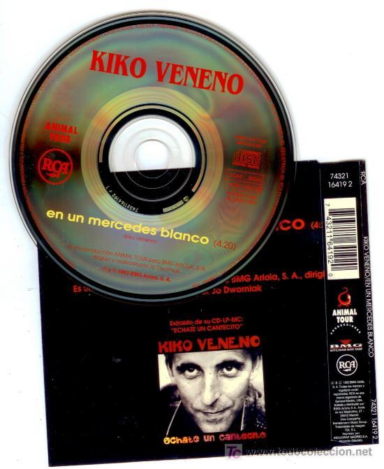 CDs de Música: KIKO VENENO * EN UN MERCEDES BLANCO * CD Single * Nuevo * Muy raro - Foto 2 - 25667280