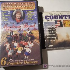 CDs de Música: VHS LINE DANCING GREAT NEW DANCES TO LEARN + CD COUNTRY VOL.1. Lote 15098728
