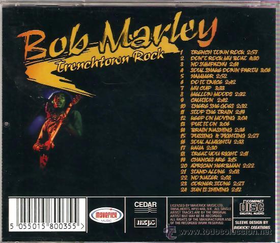CDs de Música: CD BOB MARLEY - TRENCHTOWN ROCK - Foto 2 - 26532552