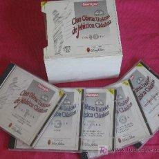 CDs de Música: 100 OBRAS ÚNICAS DE LA MÚSICA CLÁSICA. COLECCIÓN COMPLETA: 10 CDS + 1 VOLUMEN EXTRA; ED. POR TIEMPO. Lote 27353402