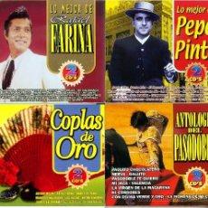CDs de Música: 8 CDS- 4 PACK DE 2 CDS EN ESTUCHE DOBLE-FLAMENCO Y PASODOBLES. Lote 27189209