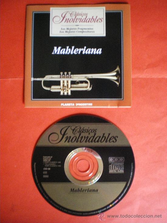 CD CLASICOS INOLVIDABLES MAHLERIANA MAHLER (Música - CD's Clásica, Ópera, Zarzuela y Marchas)