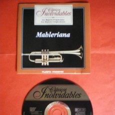 CDs de Música: CD CLASICOS INOLVIDABLES MAHLERIANA MAHLER. Lote 26895839