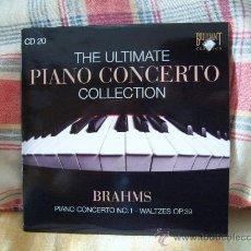 CDs de Música: JOHANNES BRAHMS PIANO CONCERTO Nº. 1 OP. 15 WALTZES OP. 39 KARIN LECHNER, EDUARDO MATURET. Lote 27098910