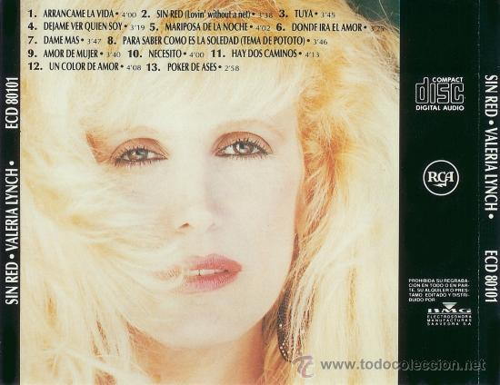CDs de Música: VALERIA LYNCH CD SIN RED ARGENTINO COMO PALOMA SAN BASILIO - Foto 2 - 17011923